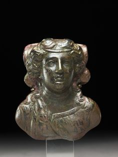bronze Furniture fitting in the form of a maenad 200-1 BCE  Bactria or Gandhara India after invasion of Alexander the Great