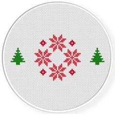 FREE for Dec 21st 2016 Only - Christmas Decorative Cross Stitch Pattern