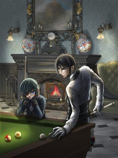 Only you Sebastian can make something like pool look so sexy *hehe* the young lord looks so bored.