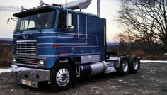 """Don Slate's 1986 International Eagle double-bunk, """"with only 384,500 original miles on it,"""" he says, just got a fresh coat of paint after it had faded over the years. """"I can't wait for spring to start showing her at ATHS' truck shows."""""""