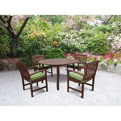 teak oil finish patio set $239 #walmart...buy 2 sets for the chairs and table separetly?