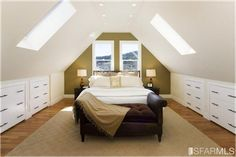 Sloped Ceiling Bedroom Decorating Ideas | Great Design for Sloped Ceilings or A-Frame Rooms