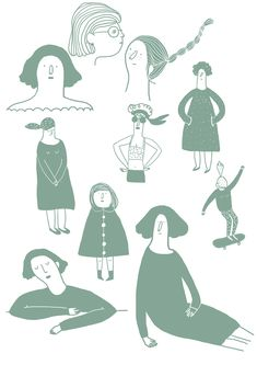 Marion Barraud, women, characters