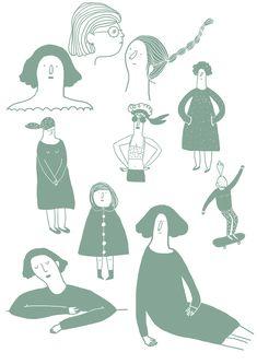 2013 sera l'année de la tablette !   Il faut persévérer. Du coup, je me lance des petits défis. Aujourd'hui : personnages féminins. Et ...