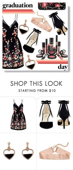 """""""Untitled #108"""" by excalibaby ❤ liked on Polyvore featuring The 2nd Skin Co., Rouge Bunny Rouge, Nine West, Casetify and Graduation"""
