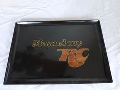 "VINTAGE ""70's COUROC SERVING PLATTER featuring ""ME AND MY RC"" slogan for RC COLA #Couroc"