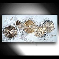 """Produktbeschreibung Künstler: Jean Sanders """"GOLDEN"""" 120 x 60 cm . Bild Gold, Industrial Wall Art, Circle Painting, Mother Art, Plaster Art, Africa Art, Contemporary Wall Art, Texture Painting, Abstract Canvas"""