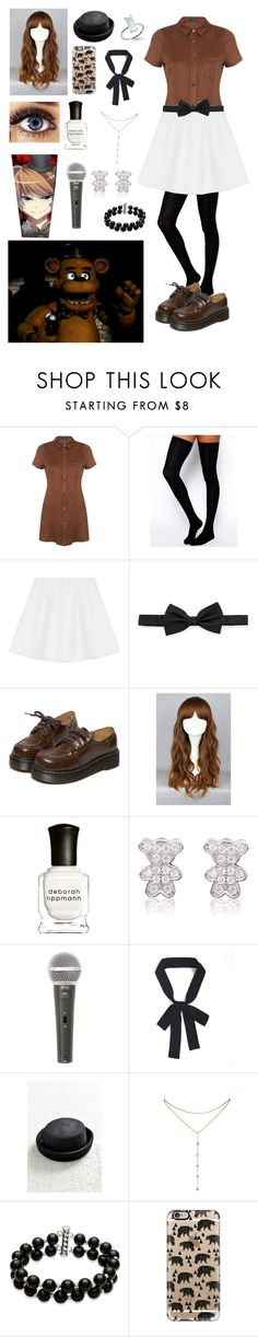"""""""FNAF: Daughter of Freddy"""" by ender1027 ❤ liked on Polyvore featuring Freddy, Miss Selfridge, ASOS, RED Valentino, Lanvin, WithChic, Deborah Lippmann, Galaxy Audio, Urban Outfitters and GUESS by Marciano"""