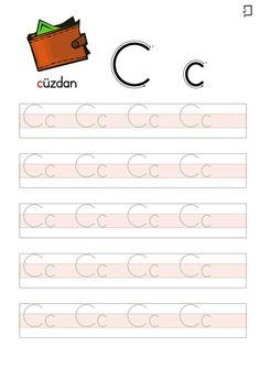 Alphabet Writing Practice, Alphabet Worksheets, Preschool Worksheets, Preschool Activities, Arabic Alphabet For Kids, Turkish Language, Preschool Writing, Flower Phone Wallpaper, Printable Letters