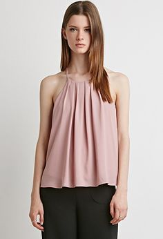 Pleated Chiffon Cami | Forever 21 - 2000158266