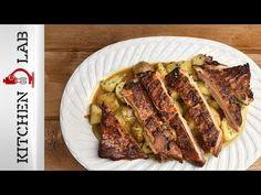 Τραγανή πανσέτα Επ.1 | Kitchen Lab TV | Άκης Πετρετζίκης - YouTube New Recipes, Recipies, Ham Dishes, Pork Ham, Low Sodium Recipes, Pork Belly, Grilling, Food And Drink, Beef
