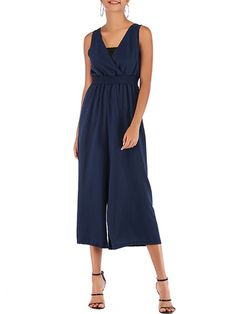 Color : Dark Navy,Red Style : Casual Fabric : Cotton Blend Pattern : Solid Color The post V Neck Sleeveless Cotton Blend Straight Playsuit appeared first on TD Mercado. Floral Maxi Dress, Striped Dress, Casual Dress Outfits, Mini Dress With Sleeves, Red Fashion, Fashion Trends, Summer Dresses For Women, Jumpsuits, Playsuits