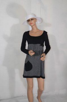 robe noire a rayures LA MODE EST A VOUS   taille 2 ref 0516216 #fripie