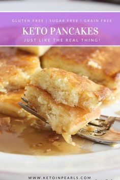 Just like mom used to make! Thick, fluffy, pancakes that are less than 5 net carbs per serving! Keto, gluten free, grain free, and sugar free!