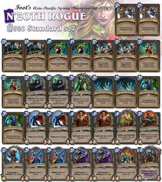 N'Zoth Rogue will be competing for the Asia-Pacific Spring Championships this weekend! Find more of this tournament's decks through our new Linkin.bio! #Hearthstone