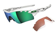 8ae72faa8703d My Triathlon - Oakley Sports Performance Sunglasses - Radarlock - Polished  White Frame - Jade Iridium