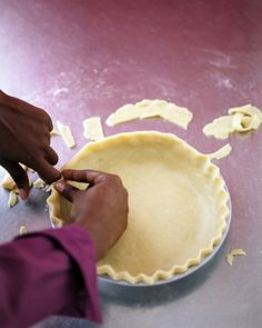 A pie made from scratch is always a treat, and it only requires a little extra effort. Our tips will help you achieve a flaky crust and make a great dessert for the holiday table.What You'll Need2 1/2 cups all-purpose flour1 teaspoon salt1 teaspoon sugar1 cup (2 sticks) chilled unsalted butter, cut into small piecesIce water