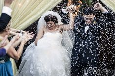 Just Married Confetti Ashford Estate Wedding JAGStudios