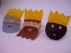 día de Magos Reyes artesanía para niños | reyes magos adorno navideño fieltro,hilo,lentejuelas costura