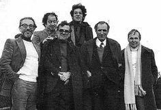 Poetas portugueses: Pedro Tamen, Alberto Pimenta, Alexandre O'Neill, Miguel Torga e  Eugénio de Andrade.