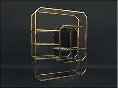 1970's Brass etagere by Maison Jansen, France.