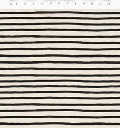 Cheshire Stripe (Natural) Screen-Printed Unbleached Cotton Fabric