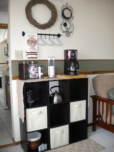 Andy and I love our new tea and coffee bar!  :)