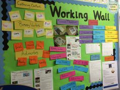 Growing Little Learners: Sunday Scoop and Working Walls! Classroom Displays Primary Working Wall, Working Wall Display, Literacy Working Wall, English Classroom Displays, Primary Classroom Displays, Year 4 Classroom, Classroom Display Boards, Ks1 Classroom, Teaching Displays