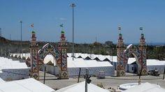 : Vista general del recinto provisional donde se celebró la feria de Marbella el año pasado, al norte de la ciudad.