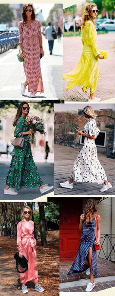 Ideas For Moda Verano 2019 Tendencias Zapatillas Dresses For Teens Dance, Trendy Dresses, Women's Fashion Dresses, Girls Dresses, Fashion Clothes, Clothes Women, Necklines For Dresses, Dresses With Sleeves, Outfit Vestidos