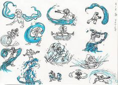 Practice Sketches 3 (WaterBender Poses) by on DeviantArt Avatar The Last Airbender Art, Avatar Aang, Art Poses, Drawing Poses, Fantasy Kunst, Fantasy Art, Art Sketches, Art Drawings, Art Reference Poses