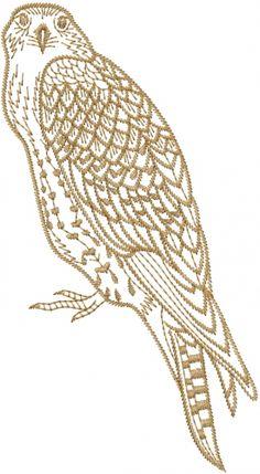 Hawk Outline embroidery design AnnTheGran.com
