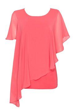 Coral Sheer Layered Top - Tops - Clothing - Wallis Europe