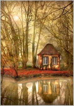 Wow!! A secret cottage in the woods  (without the scary witch of course!)