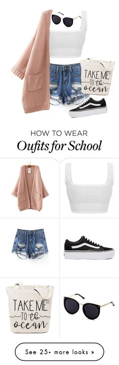 """Bored of school "" by periszgun on Polyvore featuring Vans"
