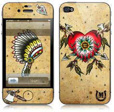 Indian Tattoo IPhone Skin by melaniemilne1 on Etsy, $25.00
