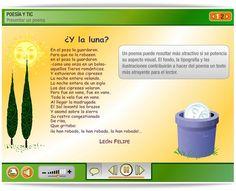 """""""Poesía y TIC"""" (Plataforma Agrega) Language, Texts, Teaching Resources, Platform, Text Types, Interactive Activities, Spanish Language, Languages, Language Arts"""