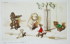 Boris O Klein, Dirty Dogs of Paris, Zut ils nous l'ont grillage! [BOK-065] - £35.00 : Art & Collectibles, Art, Antiques and Collectibles
