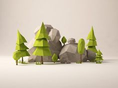 low poly tree - Google Search