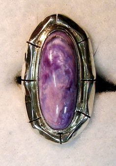 CHAROITE  RING  386 by Flagstafftraders on Etsy, $186.00