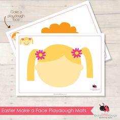 EASTER MAKE A FACE PLAYDOUGH MATS kids