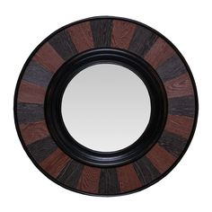 Michael Anthony Furniture Round Two-Toned Chestnut Mirror
