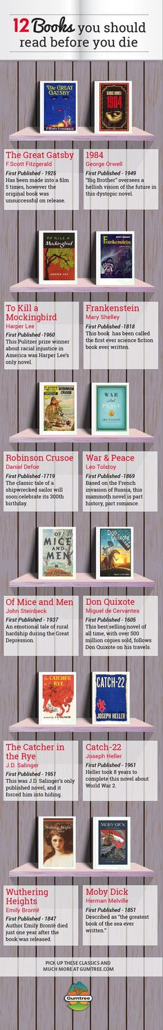 12 Books You Should Read Before You Die. Here are 12 books that you should read before you die. These books are absolutely fantastic-how many of them have you read? Books And Tea, I Love Books, My Books, Read Books, Books To Read Before You Die, What To Read, Reading Lists, Book Lists, Reading Time