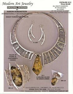Modern Art Jewelry, Original Designs by Aaron: Quality Handcrafted Original Sculptural Sterling Silver and 14K Gold Jewelry made in USA
