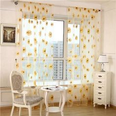 Living Room Decor Set White - window curtain, outgeek 2 panels floral sunflower sheers for living room bedroom kitchen home decor, set of 2 Room Ideas Bedroom, Living Room Bedroom, Modern Bedroom, Contemporary Bedroom, Master Bedroom, King Bedroom, Living Room Decor College, Art For Bedroom, Bedroom 2018