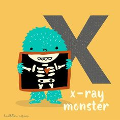 "0 Likes, 1 Comments - Heather Rosas (@heatherrosasart) on Instagram: ""Happy Friday the 13th! X is for X-ray monster. . . . #halloween #halloweencountdown…"""