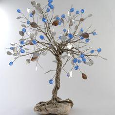 """Διακοσμητικό Δέντρο """"Ασημί-Σιέλ"""""""