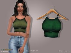 This minimalistic halter top screams casual and is the key piece to every effortlessly stylish outfit.  Found in TSR Category 'Sims 4 Female Everyday'