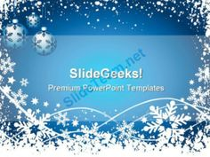 Snowflake Background Christmas PowerPoint Templates And PowerPoint Backgrounds 0711 #PowerPoint #Templates #Themes #Background