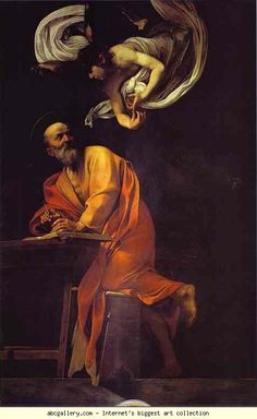 Caravaggio. St. Matthew and the Angel.